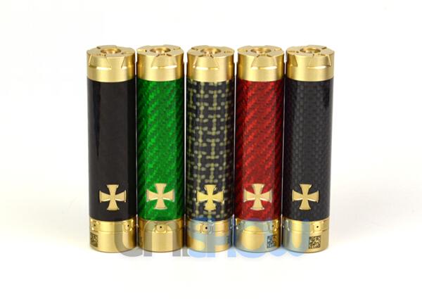 Knight 18650 Carbon Fiber + Brass Mechanical Mod Clone