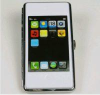 iPhone Cigarette Case white/black