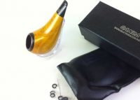 Shiny-S Yellow stylish wooden tobacco pipe
