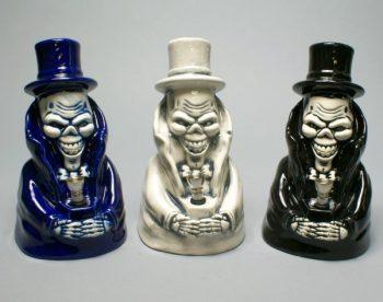 "9"" Joker In Tuxedos Costume Ceramic Figurine Smoking Pipe"
