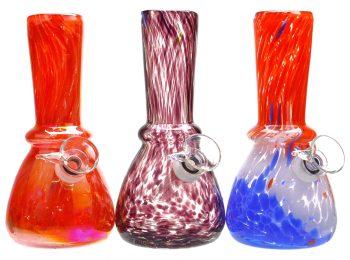 "6"" Hand Blown Soft Glass Smoking Water Pipe"